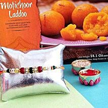Rakhi And Laddoo Combo: Send Rakhi to USA
