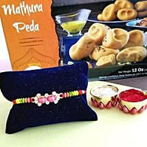 Rakhi And Peda Combo: Rakhi for Brother in USA