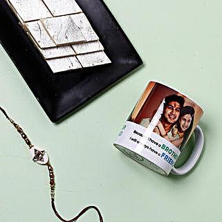 Rakhi With Mug And Kaju Katli: Rakhi to New York