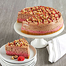 Raspberry Hazelnut Cheesecake: New Year Cakes to USA