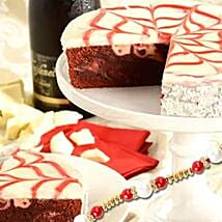 Red Velvet Brownie Cake with rakhi: Rakhi for Brother in USA