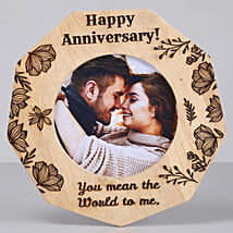Romantic Anniversary One Personalised Wooden Frame: Gifts for Her in USA
