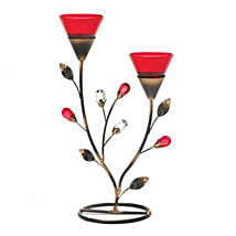 Ruby Blooms Candleholder: Valentine's Day Gifts for Him to USA