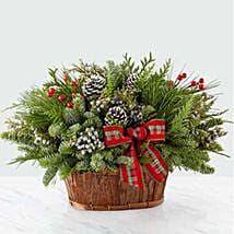 Rustic Winter Flower Bouquet: Send Christmas Flowers to USA