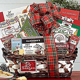 Seasons Greetings Gift Basket: Corporate Hampers to USA
