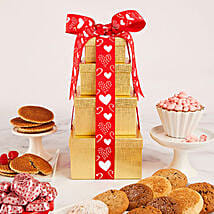 Solid Gold Valentines Tower Gift: Send Valentines Day Gifts to Cary