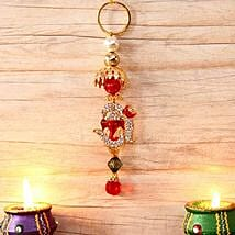 Stone Studded Hanging Ganesha: Diwali Gift Delivery in USA