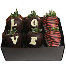 Strawberry Dipped In Belgian Chocolate: Gifts to Detroit