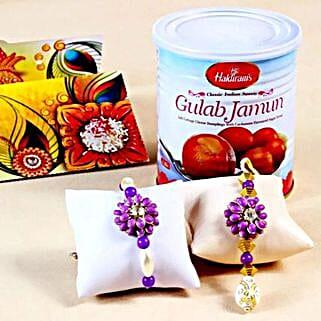 Stunning Rakhis with Gulab Jamuns: Rakhi for Bhaiya Bhabhi to USA