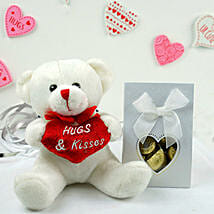Teddy Bear N Assorted Chocolates: Send Valentine Gifts to Houston