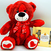 Teddy Bear N Ferrero Rocher: Send Gifts to Detroit, USA