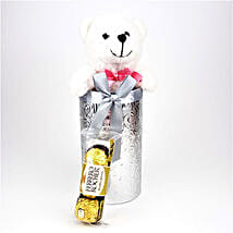 Teddy N Rocher In Silver Gift Box: Return Gift Delivery in USA