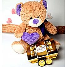 Teddy With The Treat: Gift Delivery for Her in USA