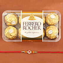 Traditional Rakhi With Ferrero Rocher: Send Rakhi to Chicago