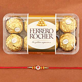 Traditional Rakhi With Ferrero Rocher: Send Rakhi to New York