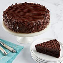 Triple Chocolate Enrobed Brownie Cake: Send Gifts to Charlotte