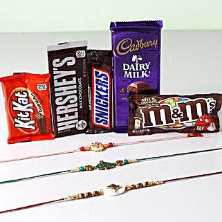 Ultra Chocolaty Rakhi Treat: Rakhi and Chocolates USA