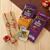 Unforgettable Rakhi Family hamper: Rakhi to Irvine
