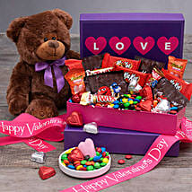 Valentine Special Chocolates And Teddy Bear: Valentine's Day Gifts to Jersey