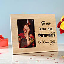 You Are Perfect Engraved Wooden Photo Frame: Personalised Gifts USA