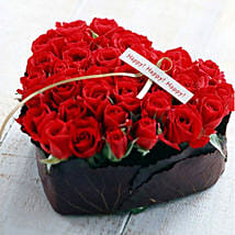 Romantic Heart Box 36 Red Roses: Rakhi Delivery in Vietnam